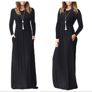 NEW w/TAGs: VIISHOW Long Sleeve Maxi Black DRESS